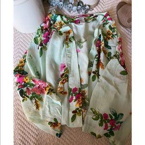 Mint green & floral kimono 💚